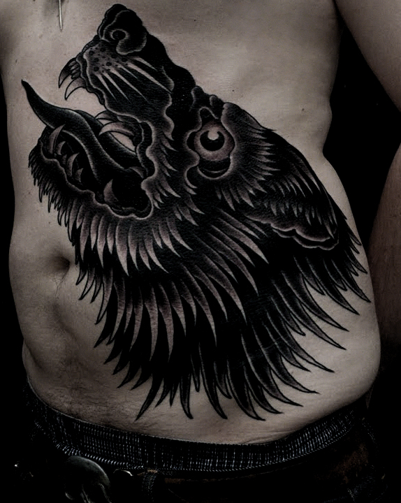 black wolf tattoo - photo #14