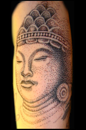 Buddha from dots