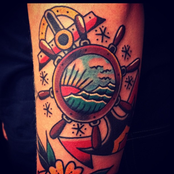 Cool sailor tattoo