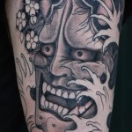Crazy face tat