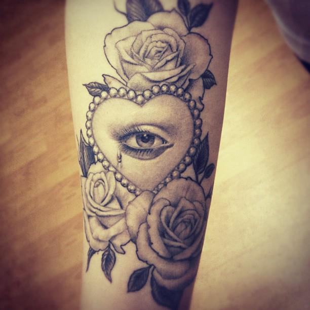 Crying eye tat