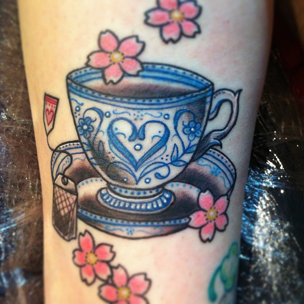 Cup Tattoo on Pinter