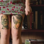 Faces on legs