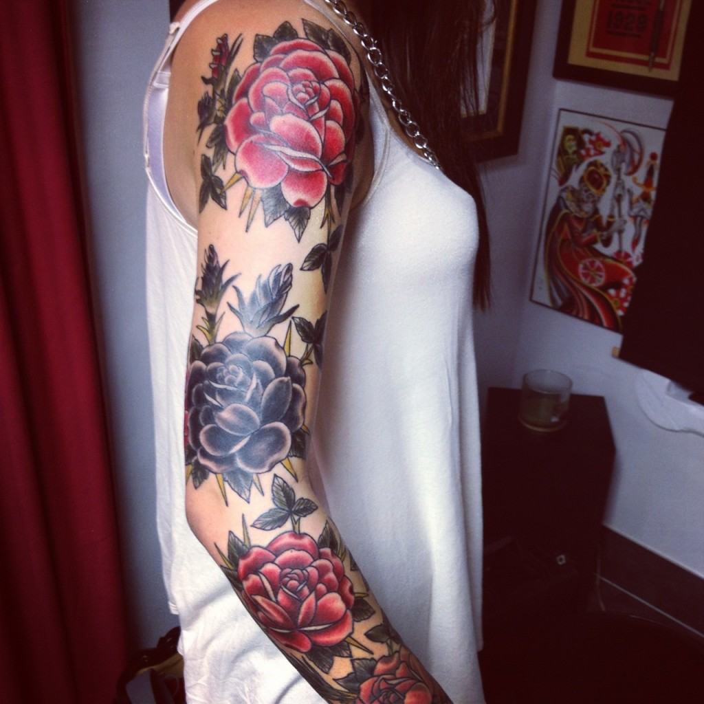 Floral girl's sleeve