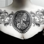 Girl's beautiful chest tat