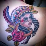 Girly back tat