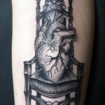 Heart in throne