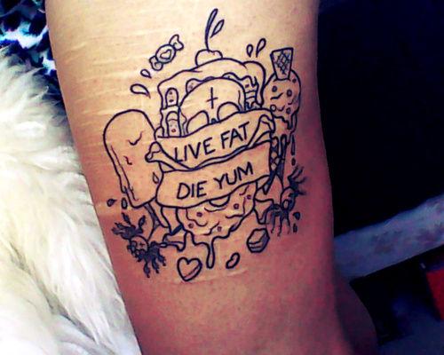 live fat die yum best tattoo design ideas. Black Bedroom Furniture Sets. Home Design Ideas