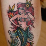 Mermaid leg tattoo