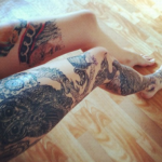 Nice legs tattoos