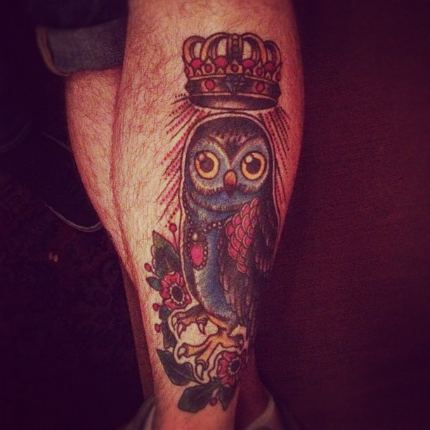 Owl and crown