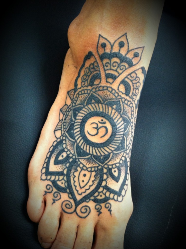 Pattern And Om Sign Best Tattoo Ideas Designs