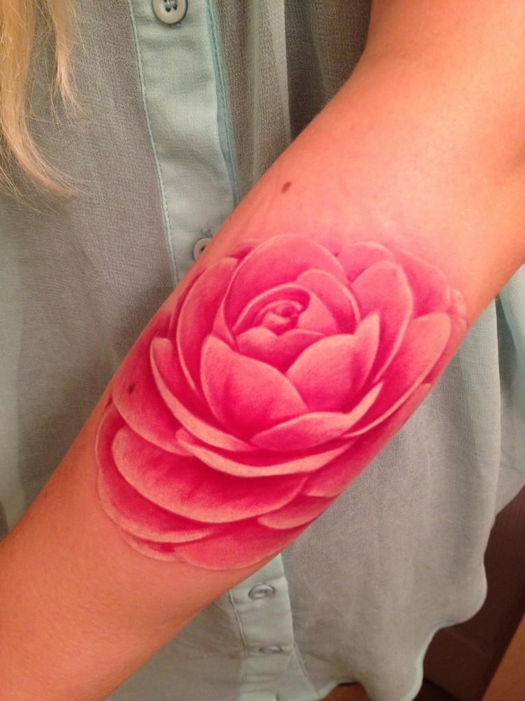 Pink lotus tattoo