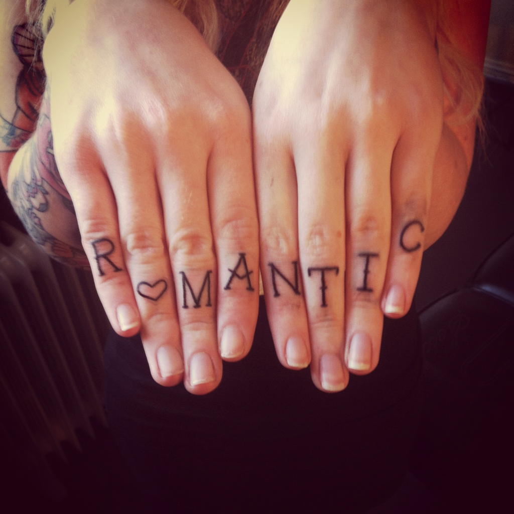 Romantic finger tat