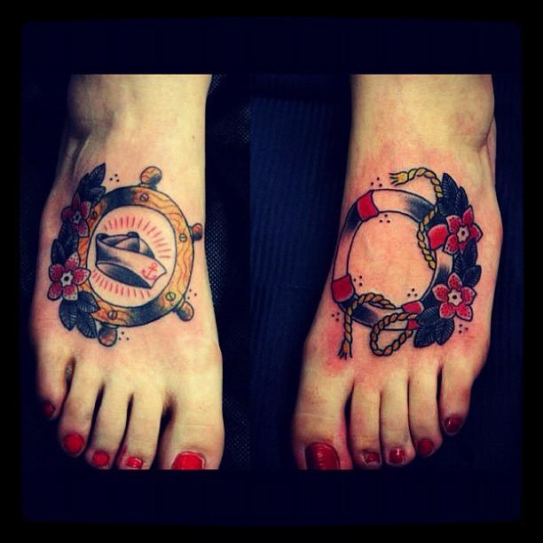 Sailor foot tattoos