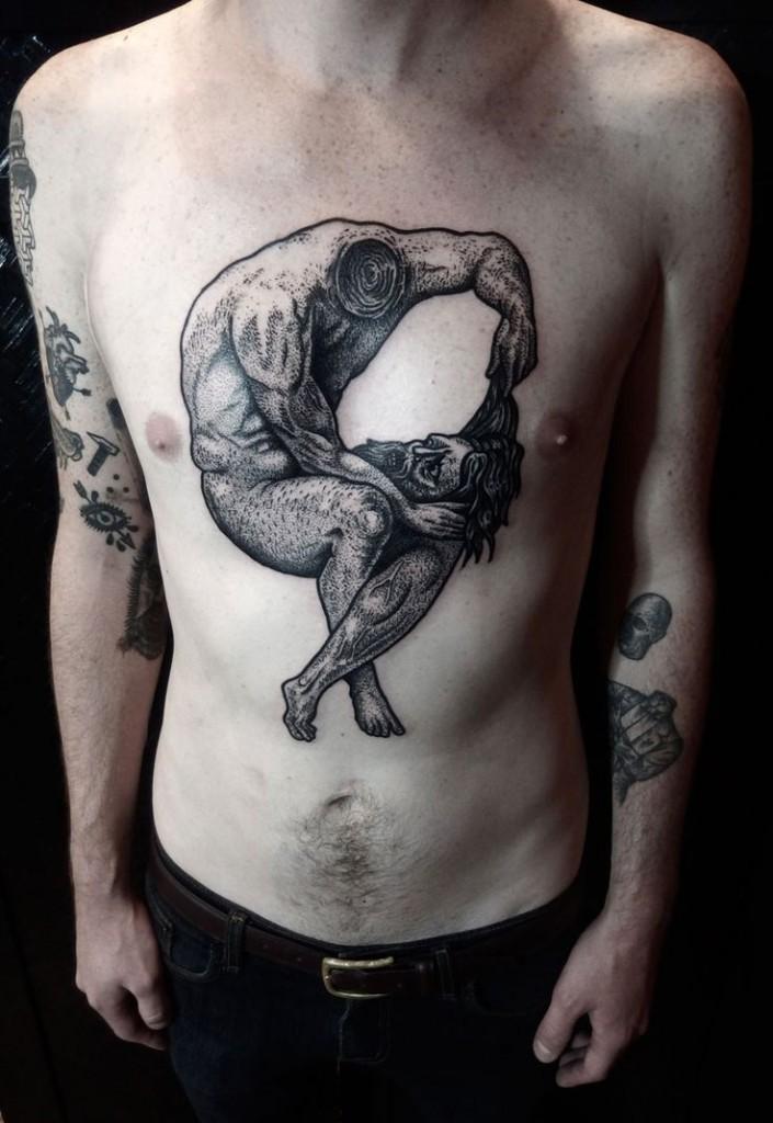 Amazing chest tattoo best tattoo ideas designs for Vagina tattoo tumblr