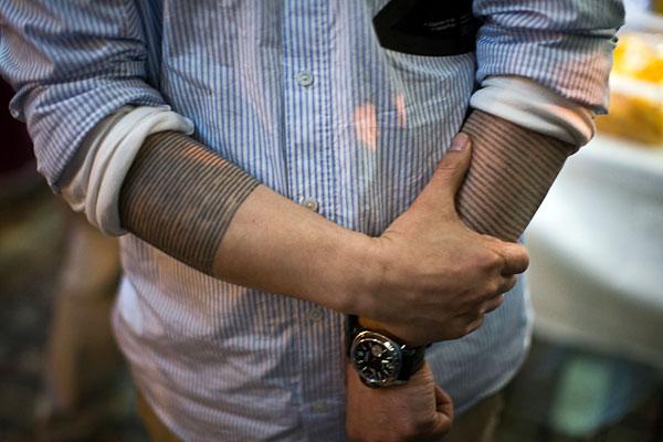 Tattoos on pinterest abstract tattoos geometric tattoos for Line tattoos on arm