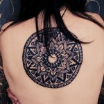 Big Black Mandala Back Tattoo