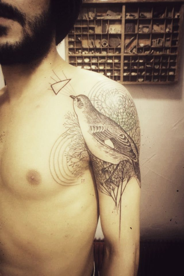 Bird Tattoo By Xoil