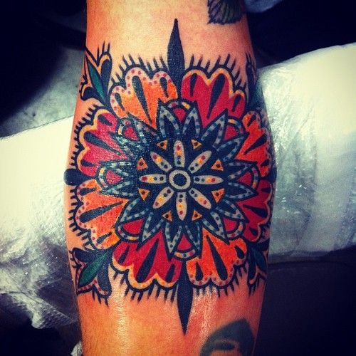 Colorful Mandala Tat