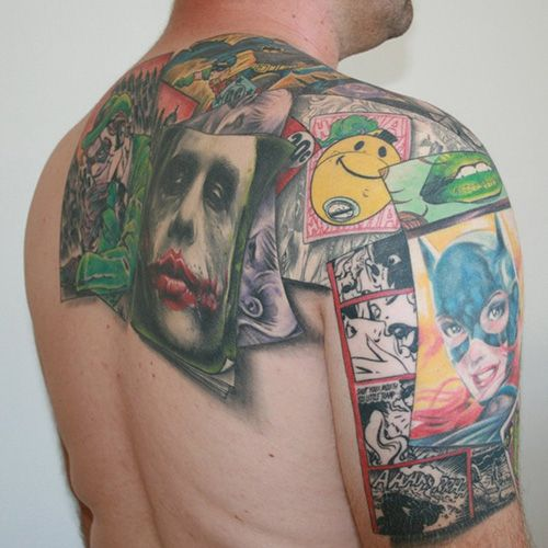 Comic Back Tat