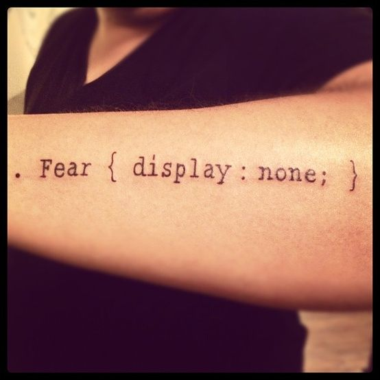 fear display none best tattoo ideas designs. Black Bedroom Furniture Sets. Home Design Ideas