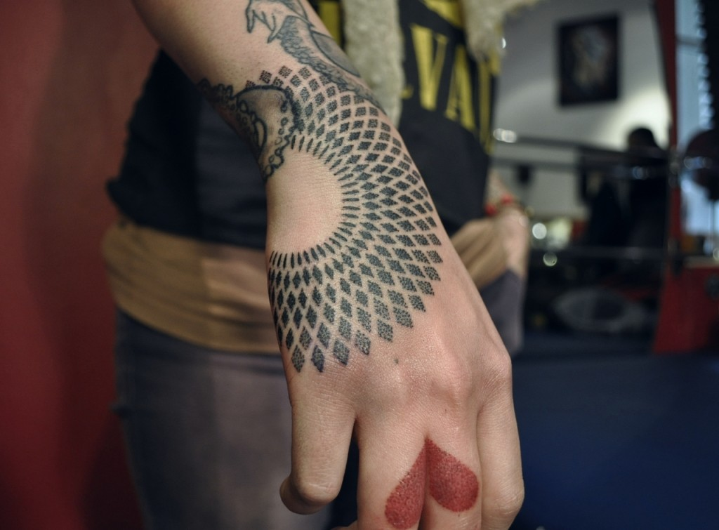 Finger Heart Tattoo