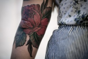 Flower Elbow Tat