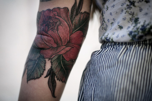 Flower Elbow Tat