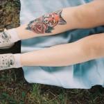 Leg Fox Tattoo