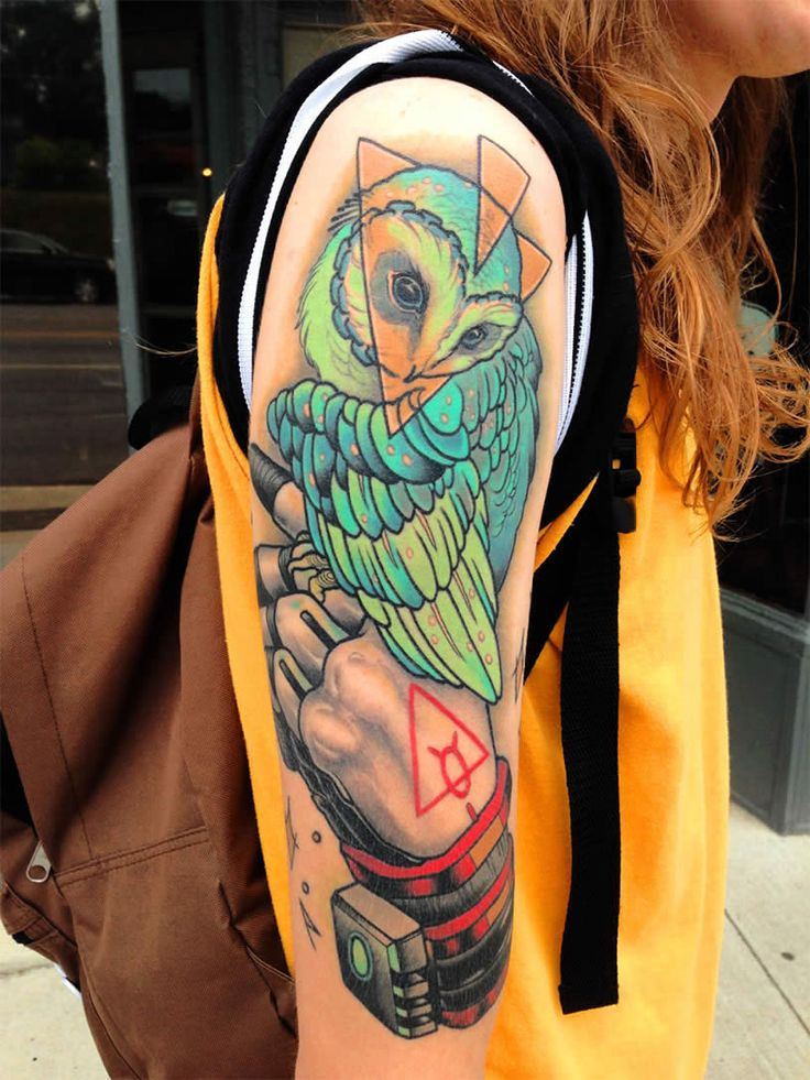 Owl Tattoo By Mike Moses