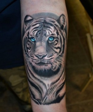 Realistic Tiger Tattoo