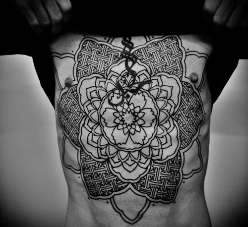 Amazing Mandala Tat On Front