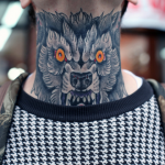 Beast Neck Tattoo
