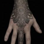 Beautiful Black Ink On Hand & Finger