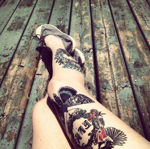 Beautiful Legs Tattoos