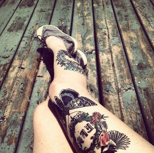 beautiful legs tattoos best tattoo design ideas. Black Bedroom Furniture Sets. Home Design Ideas