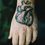 Black Heart Arm Tat