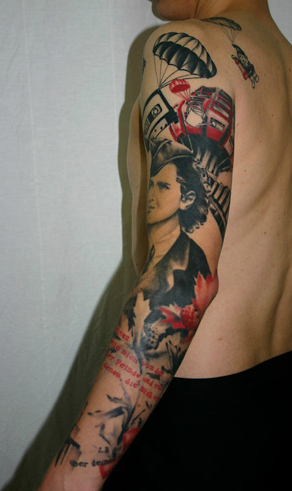 Black Red Sleeve Best Tattoo Design Ideas