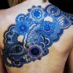 Blue Pattern Back Tat