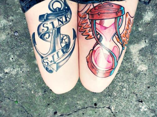 Classic Tattoos On Legs