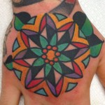 Colourful Mandala Hand Tat
