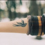 Cute Swallow Tat On Arm