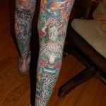 Fully Tattooed Legs