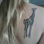 Giraffe Back Tattoo