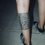 Joy Division Leg Tattoo