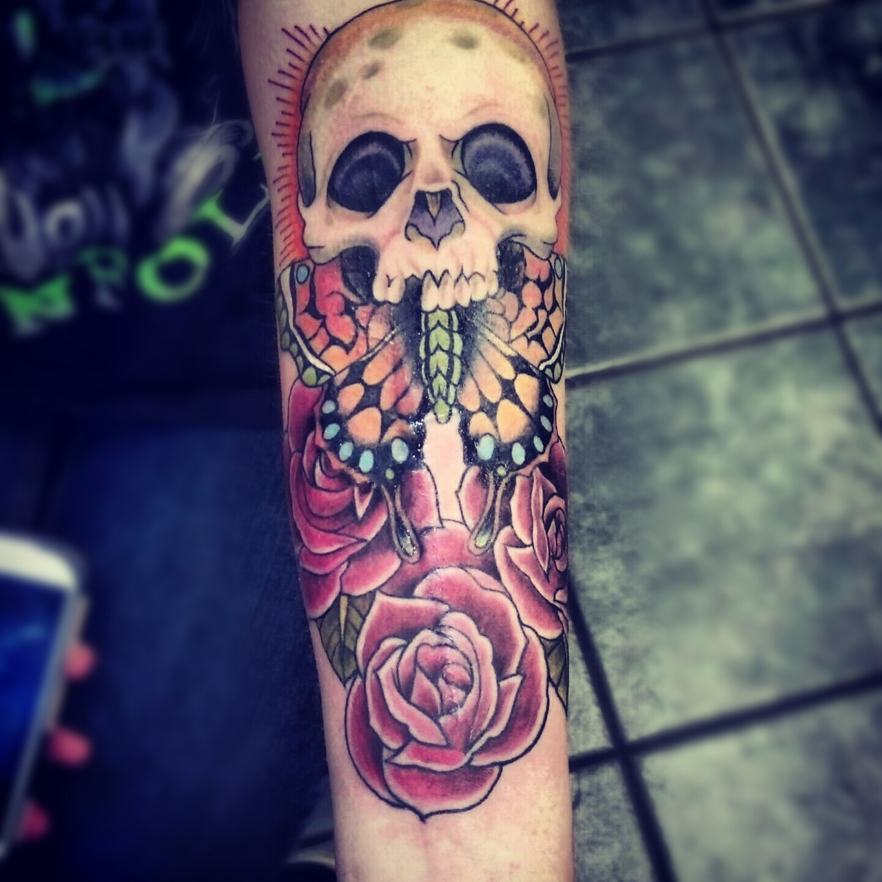 nice skull arm tat best tattoo design ideas. Black Bedroom Furniture Sets. Home Design Ideas