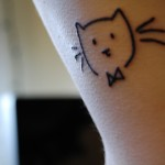 Small Kitten Tattoo