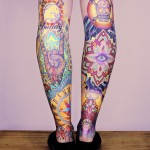 Super Colourful Leg Tats