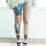 Tattooed Girl's Legs